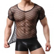 Мужская прозрачная футболка - ромб