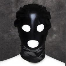 Маска БДСМ виниловая черная с глазами