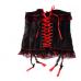 Корсет черно-красный с бантиками