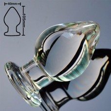 Анальная пробка стекло объемная XL